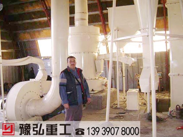 国外客户参观我公司钢渣粉碎机使用现场
